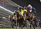 Derbaas and Richard Hills take the Al Fahidi Fort at Meydan.