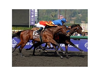 "Vale of York defeated Champion Lookin At Lucky in the 2009 Breeders' Cup Juvenile.<br><a target=""blank"" href=""http://www.bloodhorse.com/horse-racing/photo-store?ref=http%3A%2F%2Fpictopia.com%2Fperl%2Fgal%3Fprovider_id%3D368%26ptp_photo_id%3D8610300%26ref%3Dstory"">Order This Photo</a>"
