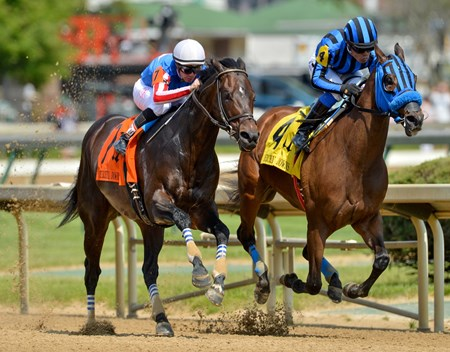Two-time grade I winner Private Zone thrived on the front end in his second start of the season, taking the $500,000 Grade II Churchill Downs Stakes at Churchill Downs.