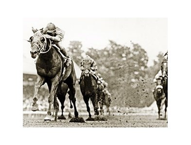 Dominic Imprescia trained Timely Writer, who won 4 grade I races, including the Hopeful shown above.