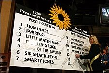 Smarty to Start From Lucky Seven Post; Lion Heart on Rail
