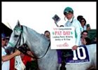Pat Day, aboard With Anticipation, after becoming racing's all-time leading rider by earnings.