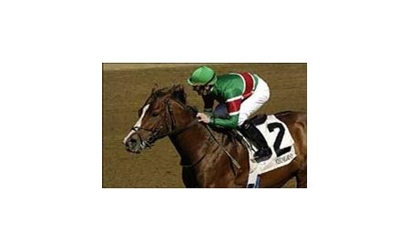 Jockey Julien Leparoux rides Likely to an impressive Lafayette Stake win, Sunday at Keeneland.