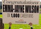 Emma-Jayne Wilson celebrates win number 1,000.