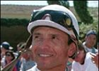 Pat Valenzuela, leading rider at Del Mar meet.