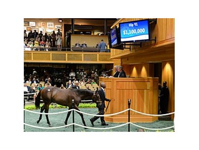 Hip 91, by Empire Maker out of Sluice, was the second highest priced yearling bringing $1.1 million.