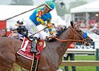 "American Pharoah<br><a target=""blank"" href=""http://photos.bloodhorse.com/TripleCrown/2015-Triple-Crown/Preakness-Stakes-140/i-6QfhzZw"">Order This Photo</a>"