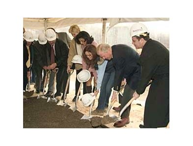 Ground-breaking ceremony for the new Pinnacle Race Course.