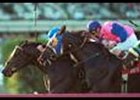North East Bound (middle), shown finishing second to Del Mar Show in the Fort Lauderdale Handicap.
