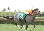 Soldier's Dancer draws off in the Miami Mile under Manoel Cruz.