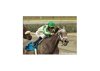 Wait a While posts a commanding win in the Yellow Ribbon Stakes, Saturday at Santa Anita.