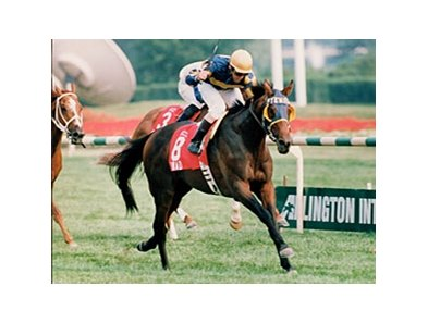 Awad won the 1995 Arlington Million in record time.