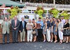 Members of Edward Evans' Spring Hill Farm Team in the Winner's Circle at Colonial Downs, earlier this year.