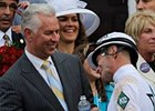Todd Pletcher congratulates Calvin Borel after winning the Kentucky Derby.