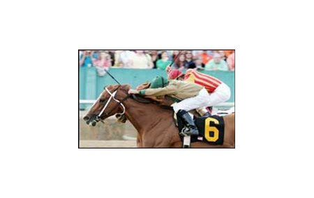 India (6) wins Oaklawn's Azeri Breeders' Cup by a head over Kettleoneup.