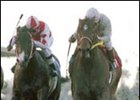 Kona Gold, right, caught Radiata, left, to win the El Conejo.