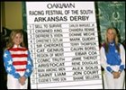 Post positions for this weekend's running of the Arkansas Derby.