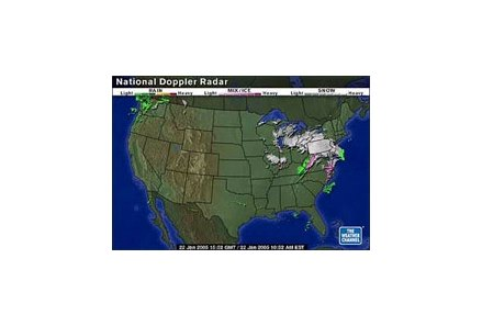 Regional map shows blanket of snow over Midwest and Northeast Saturday morning.