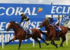 Nathaniel and William Buick win the Coral-Eclipse at Sandown Park.