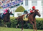 Virginia Derby contender Kitten's Joy, winning the Crown Royal American Turf.