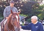 Denny Brace (right) with Allen Jerkens