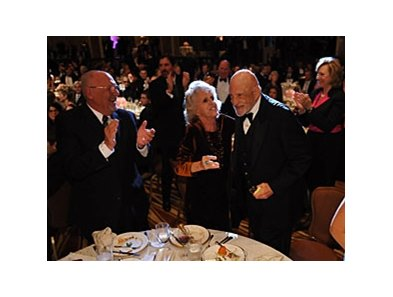 Jess Jackson, co-owner of Rachel Alexandra, reacts to the Horse of the Year announcement at the 2009 Eclipse Awards.