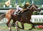 Jockey Jerry Bailey guides Trippi to victory in the Tom Fool Handicap in July at Belmont Park.