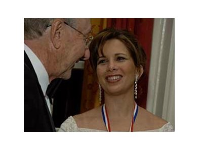Princess Haya receives the Henry Clay Medallion for Distinguished Service from Dr. D. Kay Clawson, president of the Foundation.