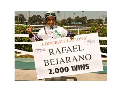Rafael Bejarano celebrates win number 2000.