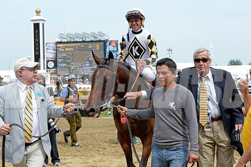 Caption:  Watsdachances with Javier Castellano wins the Stella Artois Gallorette Handicap (gr. IIIT). 