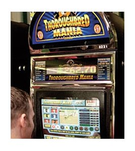 Instant Racing machines like the one pictured, are in use at Oaklawn Park.