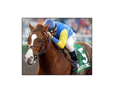 Minister Eric and Rene Douglas win the San Fernando Breeders' Cup Stakes.