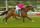 Lil Sister Stitch carries Laffit Pincay to victory in the Monrovia.