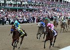 "NBC Sports reported that its live coverage of the May 2 Kentucky Derby averaged 16 million viewers.<br><a target=""blank"" href=""http://photos.bloodhorse.com/TripleCrown/2015-Triple-Crown/Kentucky-Derby-141/i-ZnQW483"">Order This Photo</a>"