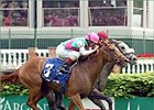 Shaconage (inside gray) edges Etoile Montante to win the Argent Mortgage at Churchill.