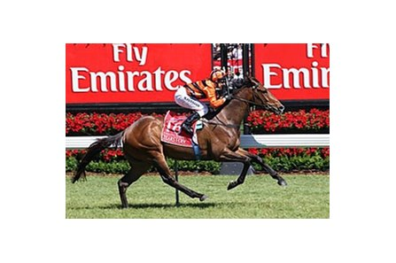 100-1 shot Tears I Cry takes the Emirates Stakes at Flemington.