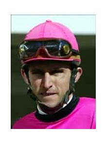 Jockeys Ramon Dominguez (pictured) and Jose Santos injured in Thursday afternoon spill at Aqueduct.