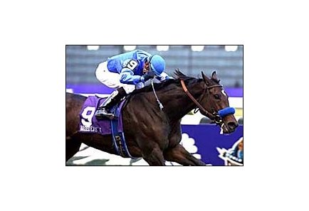 Deceased filly Tempera, winning last year's Breeders' Cup Juvenile Fillies.
