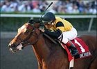 Dream Rush, ridden by Rafael Bejarano, wins the Old Hat Stakes, Saturday at Gulfstream Park.