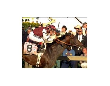 "Preakness winner Bernardini is even-money favorite for the Travers Stakes.<br><a target=""blank"" href=""http://www.bloodhorse.com/horse-racing/photo-store?ref=http%3A%2F%2Fpictopia.com%2Fperl%2Fgal%3Fgallery_id%3DS210287%26process%3Dgallery%26provider_id%3D368%26ptp_photo_id%3D429802%26sequencenum%3D12%26page%3D"">Order This Photo</a>"