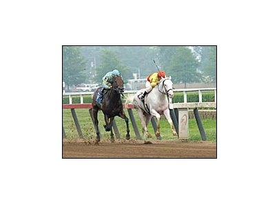 The White Fox, breaking maiden over Victory Image at River Downs.