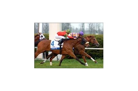 Ascertain gets final decision of Keeneland meet in  Elkhorn Stakes win.