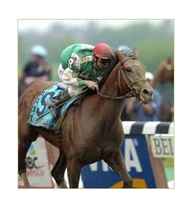 Afleet Alex, shown winning the Belmont, has been retired