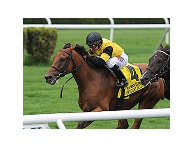 "Twilight Eclipse shakes off War Dancer to win the Man o' War Stakes.<br><a target=""blank"" href=""http://photos.bloodhorse.com/AtTheRaces-1/At-the-Races-2015/i-qHBHqKW"">Order This Photo</a>"