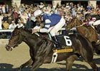 Leah's Secret (6) holds on for determined win in last fall's Raven Run at Keeneland.