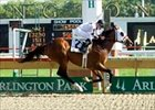 Lewis Michael gets first graded stakes win in Arlington's Washington Park Handicap.