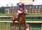 "Kentucky Oaks winner Rags to Riches may challenge 3YO colts in Belmont 139.<br><a target=""blank"" href=""http://www.bloodhorse.com/horse-racing/photo-store?ref=http%3A%2F%2Fpictopia.com%2Fperl%2Fgal%3Fprovider_id%3D368%26ptp_photo_id%3D1126060%26ref%3Dstory"">Order This Photo</a>"