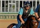 "Teuflesberg, with trainer Jamie Sanders aboard, prepares to work at Churchill<br><a target=""blank"" href=""http://www.bloodhorse.com/horse-racing/photo-store?ref=http%3A%2F%2Fpictopia.com%2Fperl%2Fgal%3Fgallery_id%3D14779%26sequencenum%3D0%26provider_id%3D368%26process%3Dgallery%26page%3Dthumbnails"">Derby Works Photos</a>"