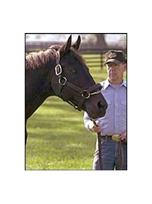 Seattle Slew, with owner Mickey Taylor last September.