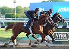 Carpe Diem (inside) and Madefromlucky worked together in :59.01 for five furlongs.